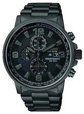 New Citizen Eco-Drive Nighthawk Chronograph Black Ion Men's Watch CA0295-58E