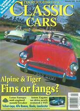 THOROUGHBRED & CLASSIC CARS Jan 96 Sunbeam Apline Lotus Europa Aston Zagato