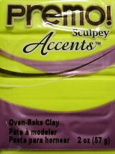 Sculpey PREMO ACCENTS - Polymer Clay - 57g - FLUORESCENT YELLOW