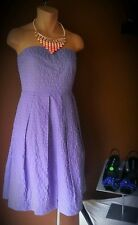 J. Crew  strapless lite Summer purple dress, 4