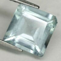 AAA Natural Aquamarine Gemstone Light Blue 8.8 x 8.8 mm. Square Emerald Cut