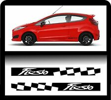 For Ford `2 x Fiesta Checks`   - Decal Sticker 195 x 30mm!- one for each side!