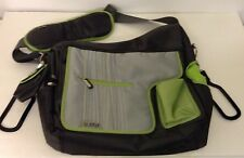 Jj Cole Baby Diaper Bag Greean and Black Pacifier Pouch Changing Pad New