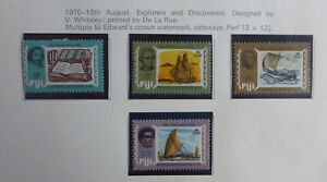 FIJI 1970 EXPLORERS AND DISCOVERERS SET 4 MINT STAMPS HINGED