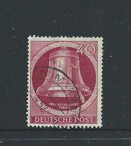 Berlin 1951 Bell of Liberty 40 pfg Clapper on Right Fine Used Sold as per Scan