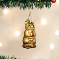 OLD WORLD CHRISTMAS CHIPMUNK GLASS CHRISTMAS ORNAMENT 12145
