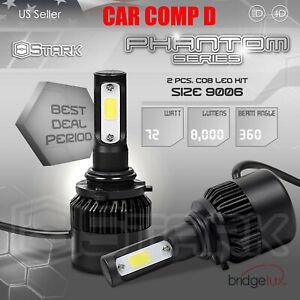 72W 8000LM US BridgeLux Chip LED Kit 6000K 6K Fog Light Bulbs- 9006 HB4
