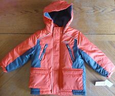 NEW Osh Kosh Orange Winter Coat size 5/6 Boys Jacket $90 MSRP NWT medium weight
