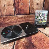 PS2 PS3 DJ Hero Wireless Turntable w PlayStation 3 DJ Hero Game CIB No Dongle