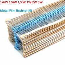 1/6W 1/4W 1/2W 1W 2W 3W Metal Film Resistor Kits ±1% Assorted Component Kits