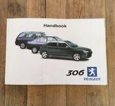 98-03 PEUGEOT 306 MK2 OWNERS HANDBOOK MANUAL