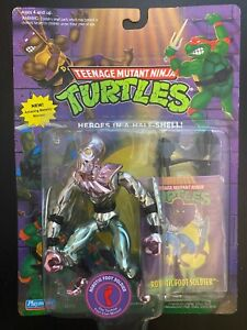 TMNT Robotic Foot Soldier; 1994 with Collector Card MOC
