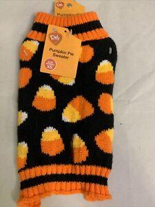 New Pumpkin Pie Candy Corn Dog Sweater Sz XS Halloween Pet Clothes Holiday