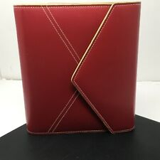 Franklin Covey Red Faux Leather Planner 1 7 Ring Binder Agenda