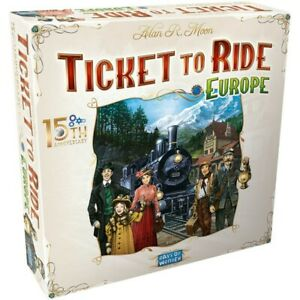 Ticket to Ride Europe Board Game 15th Anniversary Deluxe Edition