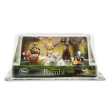 Disney Store Bambi 6 pcs Figure Play Set Cake Topper New with Box