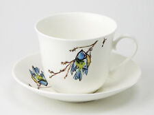 Roy Kirkham Blue Tit Bird Jumbo 450ml Cup & Saucer Bone China Gift Tea Coffee