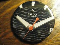 Rado Automatic Swiss Black & White Wrist Watch Advertisement Lapel Button Pin