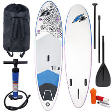 F2 SUP STAND UP PADDLE BOARD AUFBLASBAR KOMPLETT SET + PADDEL + PUMPE + BAG