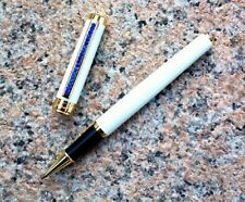 free ship JINHAO Rollerball pen White barrel FREE 2 pcs POKY refills Blue ink