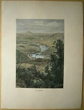 1884 print VIEW OF POTOMAC RIVER FROM MARYLAND HEIGHTS (#7)