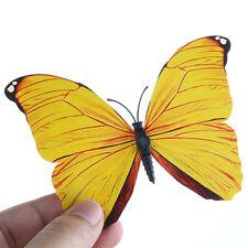 12 un. 3D Mariposa Pared Arte Calcomanía Pegatinas Imán Mural Hogar Decoración Amarillo