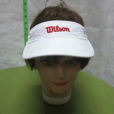 WILSON TENNIS sun-visor Sporting Goods cap 1980s embroidery NWT