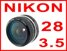 Nikon Nikkor 28mm f3.5 AI mod pre lens 28/3.5 DSLR SLR camera D300/D3/D4/D800