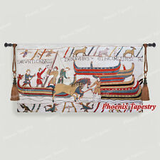 """Bayeux-II Medieval Old World Tapestry Wall Hanging, Cotton 100%, 55""""x31"""", UK"""