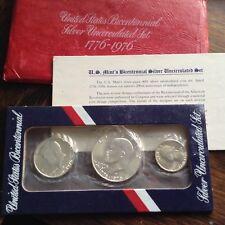 1976-S 3 pc (40% silver) US Bicentennial Mint Set w/envelope