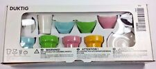 IKEA - DUKTING, 9 - Piece Coffee / Tea Set, Multicolor, Without Yellow Cup