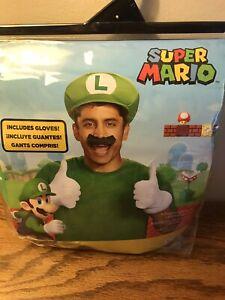 Adult Mens Mario Bros Luigi Costume Accessory 3 Pc. Set *No Mustache