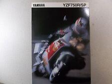 95 1995 Yamaha YZF750 YZF750R 750SP Dealer Sales Brochure