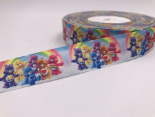 DIY 5 Yard 1'' 25MM Bear pattern Printed Grosgrain Ribbon Hair Bow Sewing Ribbon