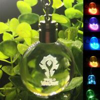 Pokemon Go Elf 3D Crystal Pokeball Key Chain LED Light Keychain Car Pendant Gift