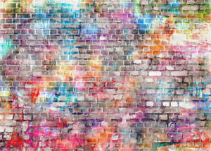 Photography Backdrops Photo Colorful Brick Wall Background Studio outdoor HOT