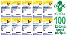Ketone Test Strips (100 Strips) FreeStyle Optium Blood Abbott UNBOXED *NEW* 2021