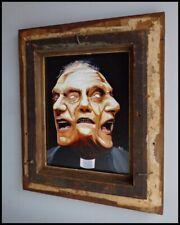 Original Contemporary Painting Folk Art Brut Gallery Framed CRISTABEL CHRISTO