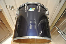"1980 LUDWIG NAVY BLUE IMRON / BLACK CORTEX 14"" CONCERT TOM to YOUR DRUM SET A380"