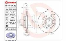 2x BREMBO Bremsscheiben vorne belüftet 280mm für VOLKSWAGEN GOLF 09.9167.10