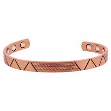 """Copper Clad 8mm wide Magnetic Therapy Cuff Bracelet with Patterns 7"""""""