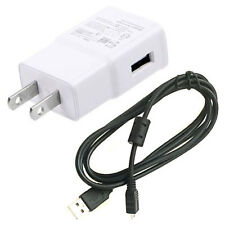 USB AC Adapter Battery Charger USB Cord For Panasonic DMC-ZS35 DMC-ZS19 S Camera