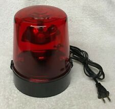 """RED 7"""" FIRE / POLICE Rotating EMERGENCY Light Beacon 110 Volt - Works Great"""