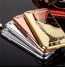 Chrome Mirror TPU Case For iPhone 5 5s 5se 6 6s Plus Rose Gold Gold Silver Gray