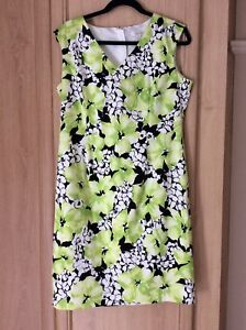 Lovely Precis Glazed Cotton Dress In VGC Size 14
