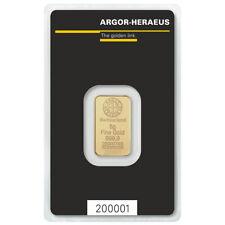 5.0 g Gold bullion Argor-Heraeus - new, sealed with certificate
