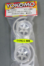 "Yokomo 1/10 RC Car WHEELS RIMS 6 -SPOKE "" Type-C "" 12MM Offset TW-14S3 (2PCS)"
