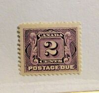 CANADA BOB #J2 * MH, Fine, 1906- , 2 Cent,  Postage Due stamp
