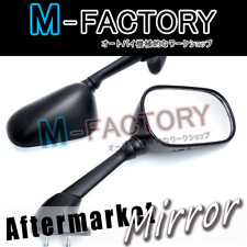 Black E-mark Rear View Side Mirrors Pair For Yamaha YZF R6 2003 2004 2005