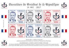 """POLITICAL LABEL NP """"France Presidential 2017 Emmanuel MACRON President"""" 14-05-17"""